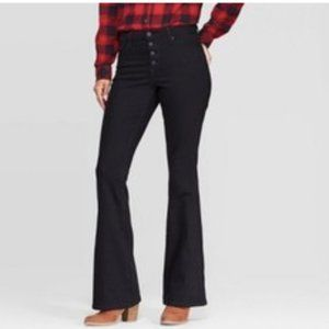 Women's High-Rise Flare with Button Fly Jeans - 6